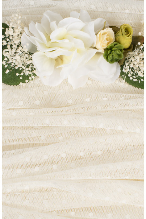 TULLE IVORY POINTS lacing
