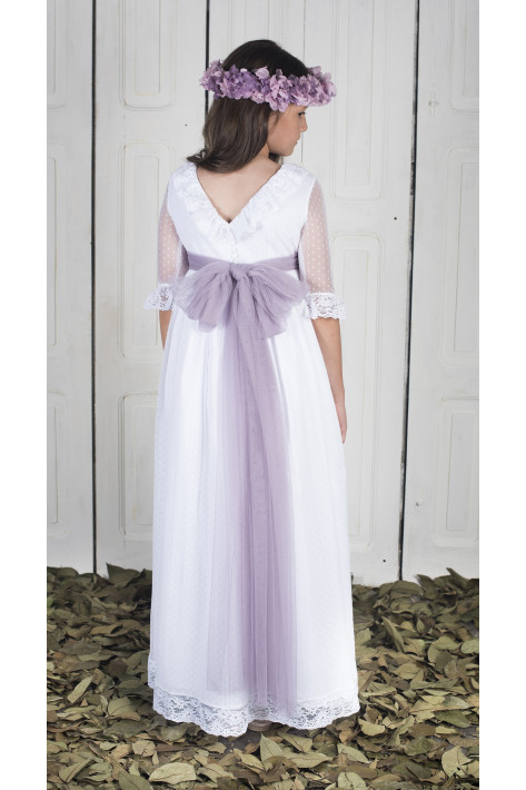 COMMUNION DRESS JIMENA WHITE