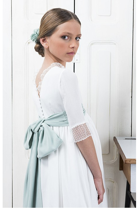 Communion Dress Casilda Aquamarine