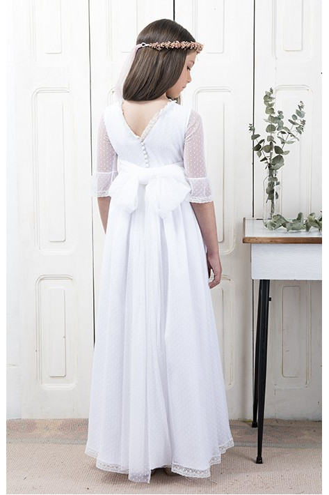 Communion Dress Antia White