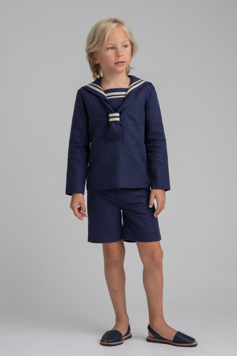 NAVY BLUE SAILOR COMMUNION SUIT