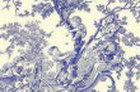 Blue Toile De Jouy Thin Canvas