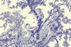 loneta fina toile de jouy azul