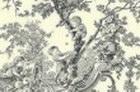 loneta fina toile de jouy gris