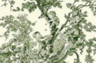 Green Toile De Jouy Thin Canvas