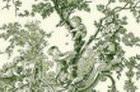 loneta fina toile de jouy verde