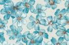 loneta media petalos azul